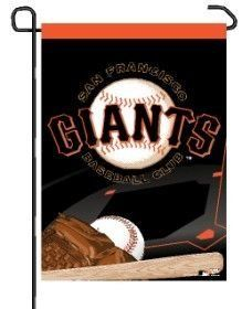 "San Francisco Giants Garden Flag by WinCraft. $9.94. San Francisco Giants Garden Flag. Officially licensed MLB garden flag. Durable polyester flag measures 11"" x 15"". Machine washable. Baseball banner designed to hang vertically from a garden flag pole or inside as wall decor. Poles sold separately. Made in USA.. Save 34%!"