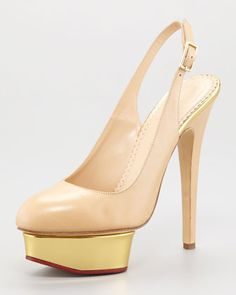 Dolly Slingback Island-Platform Sandal by Charlotte Olympia at Neiman Marcus.