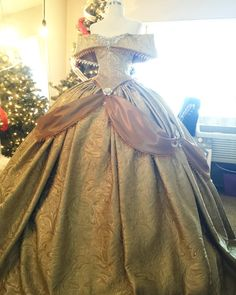 Victorian inspired Belle gown (Beauty and the Beast) two piece. This gown is a corset back bodice with full boning and the skirt comes with