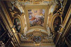 """""""techo fresco en el vestíbulo de `saturn`"""", frescos de Pietro Da Cortona (1596-1669, Italy)"""