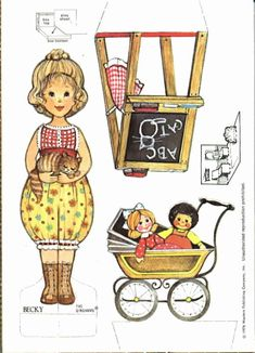 The Gingham Paper Doll Becky (Becky's Playroom)