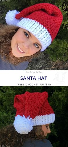 Pattern Center Santa Hat Free Pattern This cute Santa hat will make you feel the Christmas vibe. Every beginner will be able to crochet this. Crochet Santa Hat, Crochet Christmas Ornaments, Christmas Knitting, Crochet Hats, Santa Christmas, Crochet Patterns For Beginners, Knitting For Beginners, Crochet Ideas, Crochet Projects