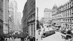 Sn: #Broad Streat nel 1905 Dx: il grande Terminal centrale e il #Manhattanhotel #photo #vintage #fotografia #StatiUniti #Usa #biancoenero #grandcentralterminal #manhattan #manhattanhotel #hotel