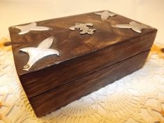 Vintage Hand-crafted Wooden Box Featuring Hammered Metal Embelishments, Hinged Treasure Box, Trinket Box/Jewelry Keeper for Dudes by OutrageousVintagious on Etsy