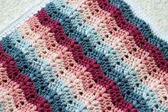 Free Crochet Blanket Pattern - Ruby Baby Blanket - Cherry Blossom Crochet