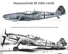 Messerschmitt B f109 G-14/AS W.Nr 785762