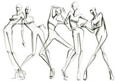 Lil croquis gesture poses by Lara Wolf #gestures #croquis #fashion #illustration