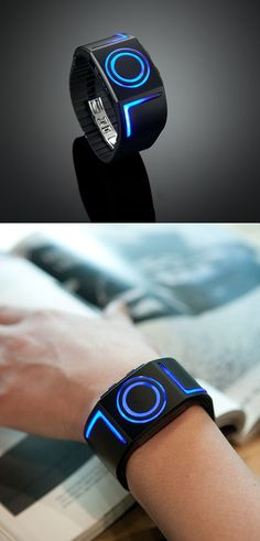 Futuristic Watch. My tween needs one of these!