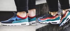Nike Sportswear created a new Rio Teal Pack comprised of two styles: a Nike Air Max 95 and an Air Max Thea. The duo has a premium hairy material (pony hair) and mixes several colorways including red, green, orange, blue and yellow on the tongue. Black leather and a white rubber sole unit complete this …