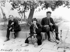 Merian Cooper, Marguerite Harrison & Ernest Schoedsack on location in Angora while filming Grass, 1925.