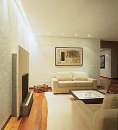 lareira/revestimento parede/iluminação