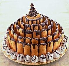Italian bakery item to make - would have to look up the translations but looks like you could figure it out - cookies and dipping in chocolate! Torta di Natale dello chef - Tutte le ricette dalla A alla Z - Cucina Naturale - Ricette, Menu, Diete Xmas Food, Christmas Sweets, Christmas Cooking, Sweet Recipes, Cake Recipes, Dessert Recipes, Cupcakes, Cupcake Cakes, Italian Bakery