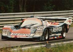 1990 24 Hours Le Mans 1990. El Porsche Repsol 962 de Oscar Larrauri/Jésus Pareja/Walter Brun ...