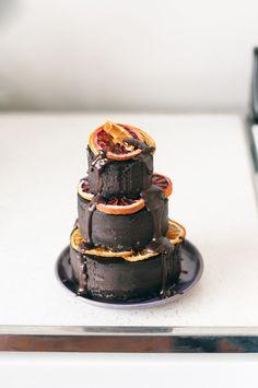 vegan raw black cocoa cake.