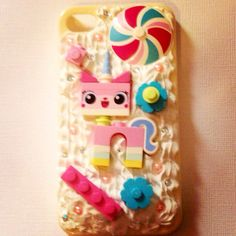 UniKitty kawaii decoden phone case by StrawberryWaffleZ on Etsy