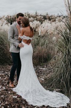 Lola in the Grace Loves Lace Paloma wedding gown. #LaceWedding