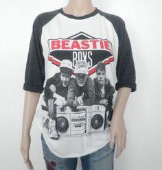 beastie boys baseball shirt | BEASTIE BOYS unisex jersey baseball 3/4 long sleeve rapper rock t ...