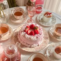 Pretty Birthday Cakes, Pretty Cakes, Cute Cakes, Think Food, Cute Desserts, Cafe Food, Aesthetic Food, Pink Aesthetic, Food Cravings