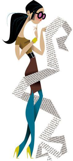 Glamour G-list by Kirsten Ulve, via Behance