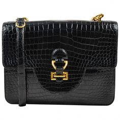 fec9ac5d03373 KSK luxury as a way of life⊱✿⊰Vintage Hermes Black Crocodile Leather