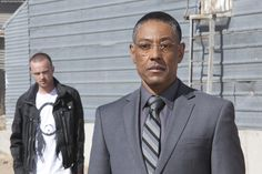 """Breaking Bad"" Season 4 Episode 7 ""Problem Dog"" - Aaron Paul as Jesse & Giancarlo Esposito as Gus. #TV"