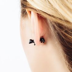 Black Dachshund Earrings | perfectsunday.co