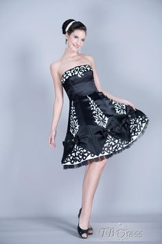 Sexy Strapless Short-Length A-Line Cocktail Dress