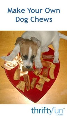 Make your own dog chews. Pig ears are often available at Asian, Mexican, or local butcher markets. Clean them under running tap water, scrubbing well. A little soap wouldn't hurt, but rinse well.