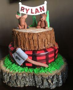 Lumberjack cake, buffalo plaid cake, cakesnmora