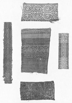 Woven Silk 1100s, Byzantine; Tablet woven, silver thread, geometric shapes