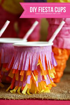 (Except with green for Christmas trees) Crepe Paper Fiesta Cups 7 web