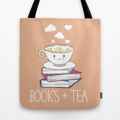Buy Books + Tea Tote Bag by Evie Seo. Worldwide shipping available at Society6.com. Just one of millions of high quality products available.