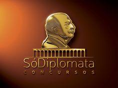 Logotipo SóDiplomata Concursos, criado pela Ópera para o Grupo Enseja Educação | Recife | PE.