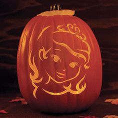 Sofia the First Pumpkin Carving Template