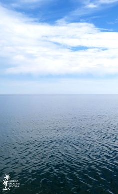 Calm gulf waters off the shore of St. George Island, Florida.