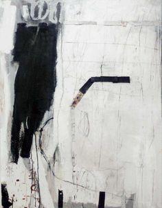 Terri Brooks - Tracks - oil, pencil and collage on canvas
