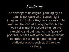 Glossery entry: 'Studio of'