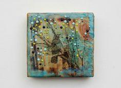 Turquoise HAZE - Original Encaustic Painting by Susan Najarian