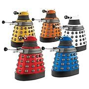 Doctor Who Dalek Paradigm Action Figure Case -   Those nasty Daleks from Doctor Who! Case includes Supreme (White), Eternal (Yellow), Strategist (Blue), Scientist (Orange), and Drone (Red) Daleks. Which color is your favorite? Collect all five of these supreme beings! As you no doubt already know, those nasty Daleks in Doctor...