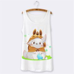 Summer Tops 2016 Hipster Sexy Sleeveless Women Tank Top Camisole Sport camis Womens Tanks Cartoon Panda Print o-neck white