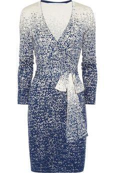 Diane von Furstenberg  Linda knitted silk-blend wrap dress