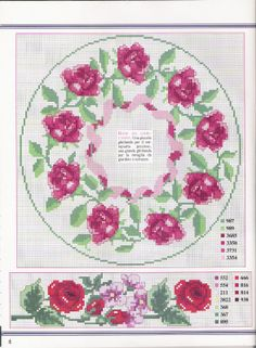 Cross-stitch Roses Borders... CURIOSA CORUJA: Gráfico Pt Cruz - Flores