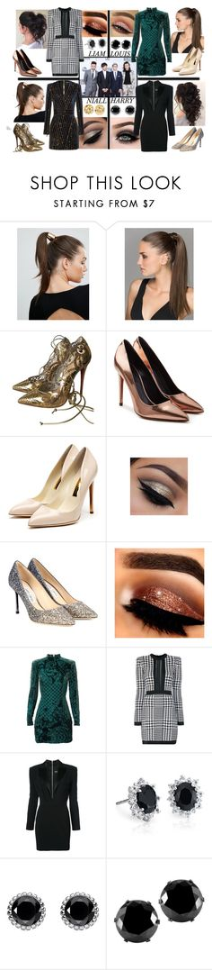 """""""the outfit you're wearing at the AMA's"""" by mclffrd ❤ liked on Polyvore featuring Johnny Loves Rosie, Christian Louboutin, Alexander Wang, Rupert Sanderson, ASAP, Jimmy Choo, Balmain, Blue Nile, Thomas Sabo and West Coast Jewelry"""