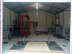 Dedicated iron shed gym - DIY platform even