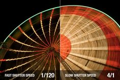 Differences between Fast and slow shutter-speed. When you can learn how to set your camera to use this setting for the best of your photography, you can really advance your image and have no problems capturing what you want to. :)