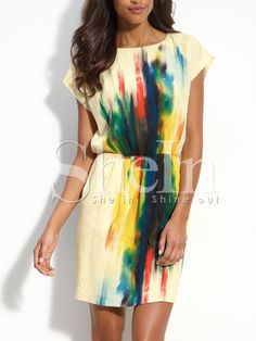 robe sans manche -multicolore  photos