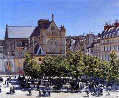 Saint Germain l'Auxerrois - Claude Monet  Completion Date: 1867