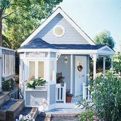 Tiny blue cottage                                                                                                                                                                                 More