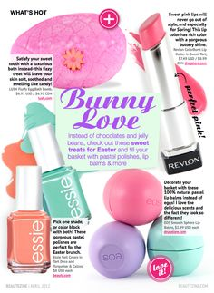 Pastel goodies for Easter. Have the EOS lip balm. Love it!