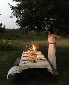 Celebrate long warm summer nights with an outdoor dinner with friends/family